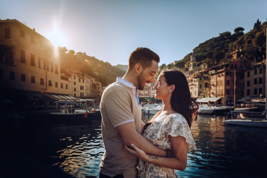 engagement photo shooting Portofino