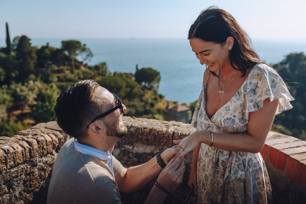 Marriage Proposal Portofino Castello Brown