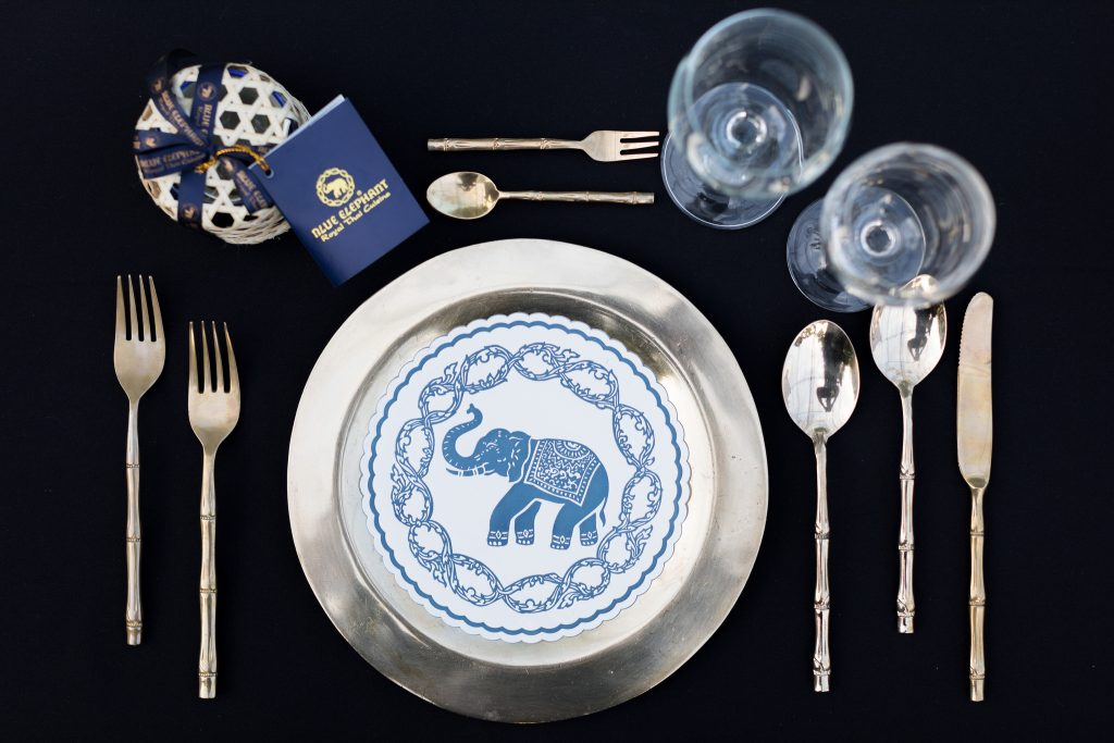 DWP Thailand Blue Elephant table setting