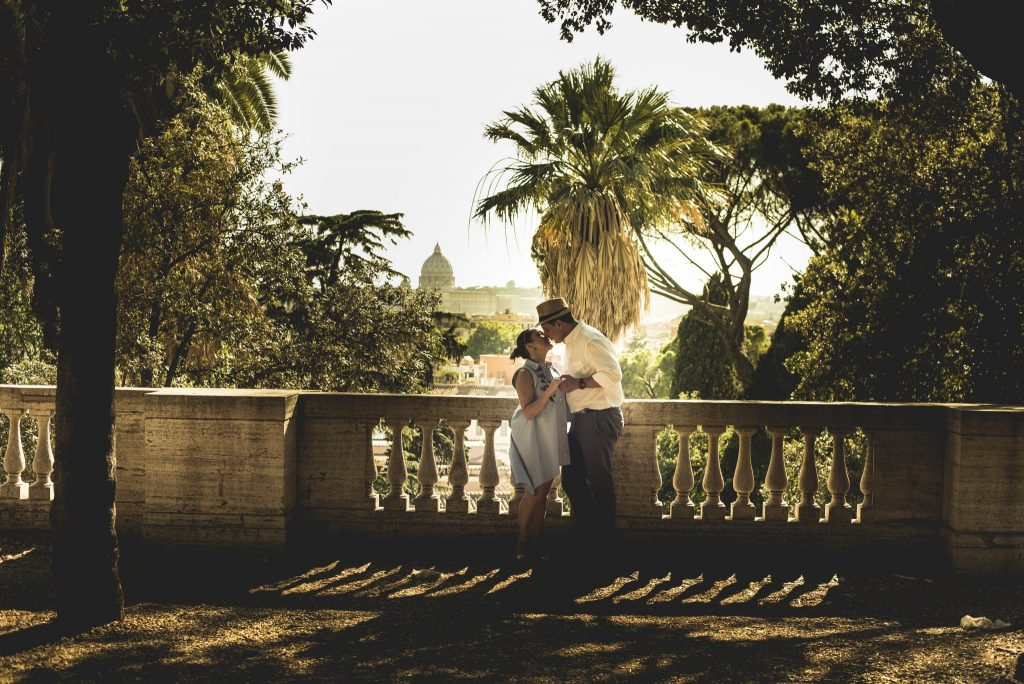 Marriage Proposal Rome Romantic View