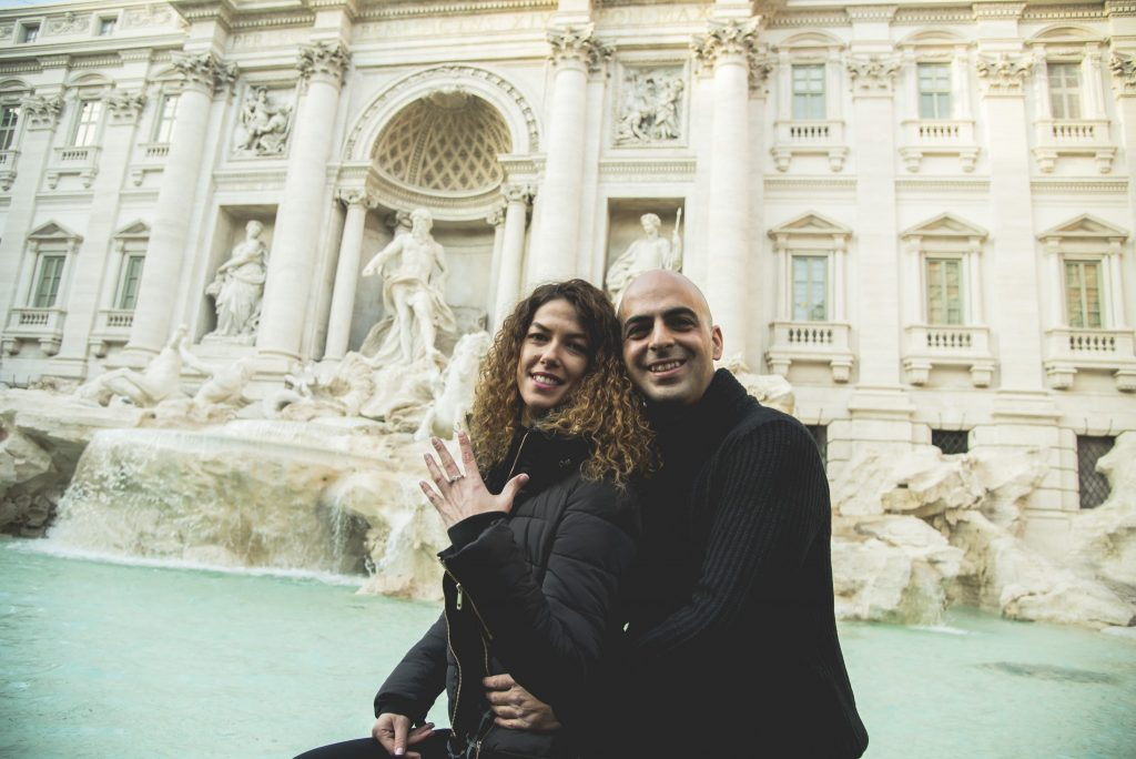 Engagement Trevi Fountain
