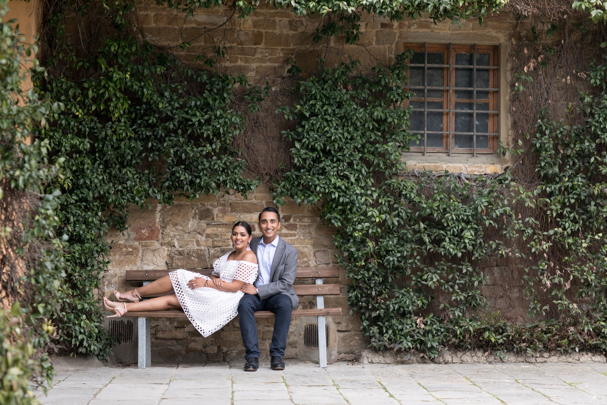 Romantic setting engagement in Florence