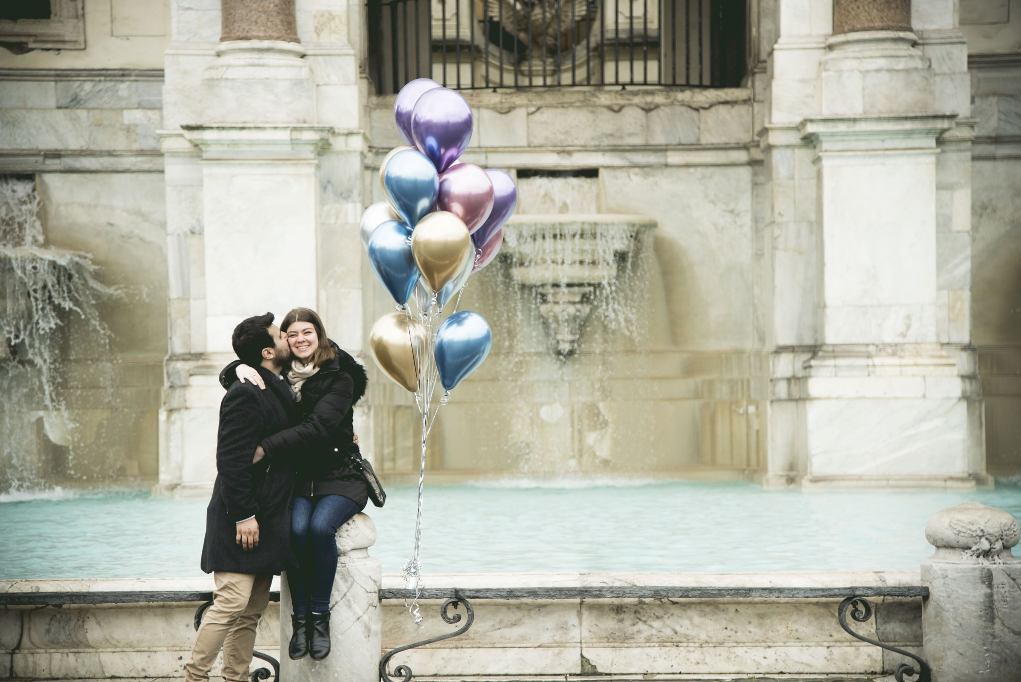 Balloons marriage proposal Rome