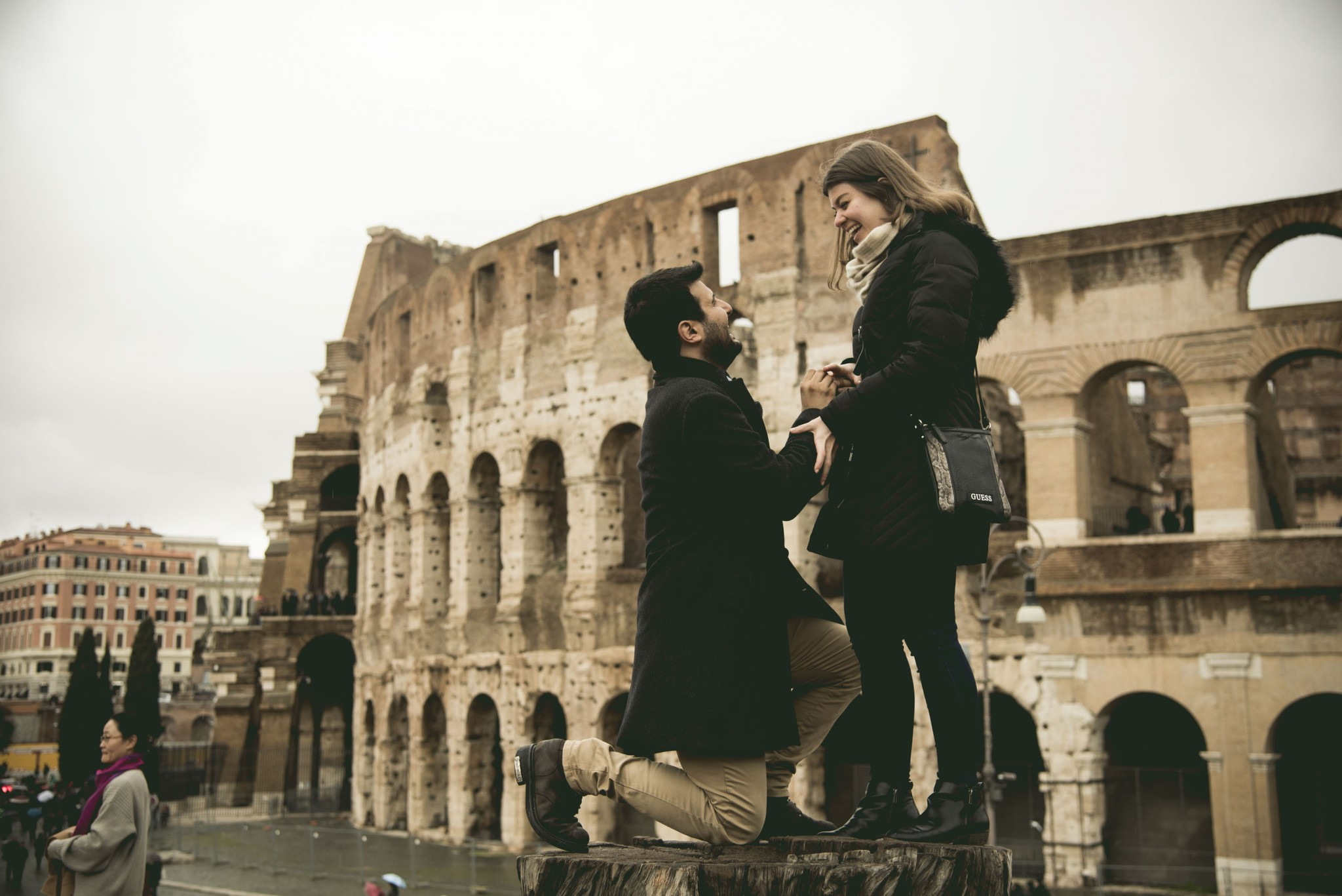 Wedding Proposal Colosseum